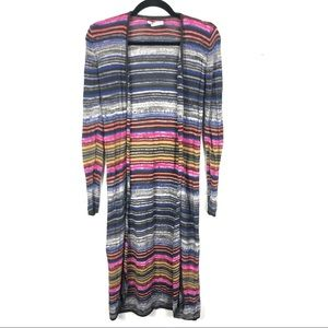 Billabong multi color knitted duster C16